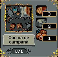 Cocina de campaña en Loop Hero