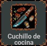 Cuchillo de cocina en Loop Hero