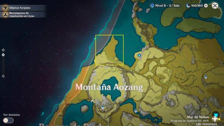 genshin impact madera de avellano en montaña aozang