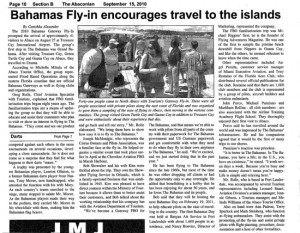 Bahamas Fly-in Encourages Travel to the Islands