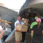 Jim Parker loading Plane to Haiti