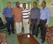 Don Campion, Dr. Sam Kunhiyop (ECWA General Secretary), Moses Igunnubole,  Dr. Shaibu, Dr. Lengmang (ECWA Acting  Director of Medical Services)