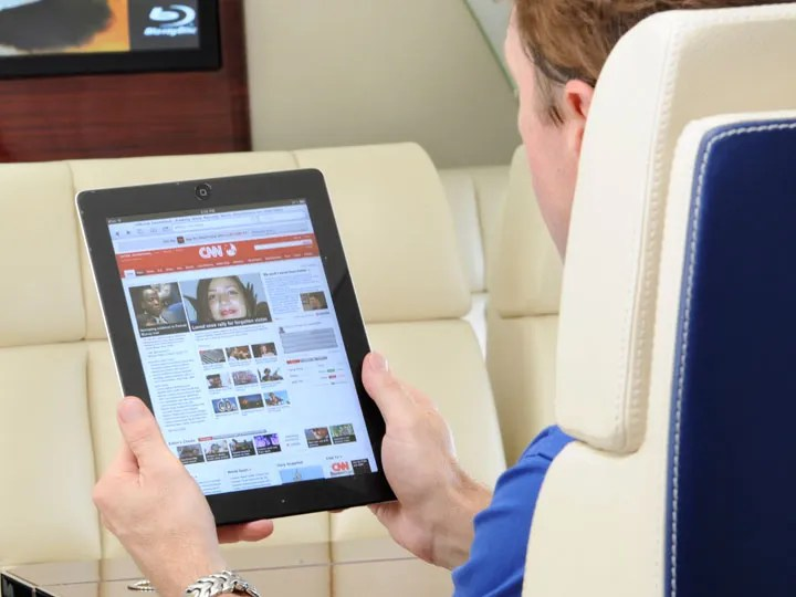 Using ipad on corporate jet