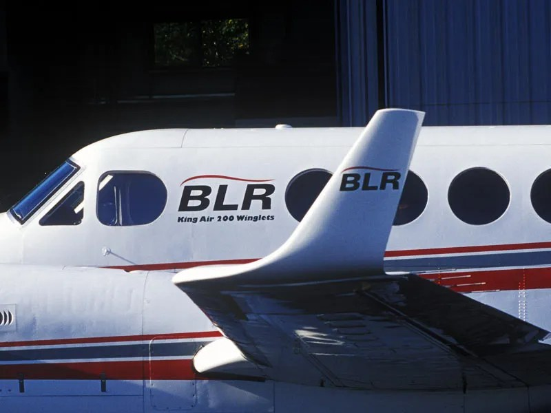 BLR Winglets King Air close up