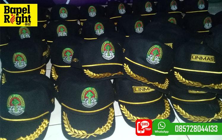 topi laken kepala desa,linmas,sekdes,kaur keuangan,kadus,topi bpd