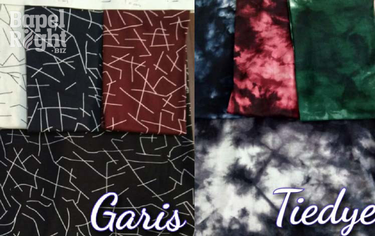 Motif Cotton Garis dan Tiedye