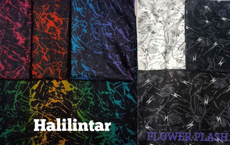 cottton printing halilintar dan flower flash