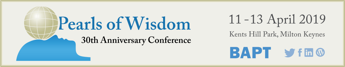 Pearls of Wisdom, BAPT 30th Anniversary Conference (banner)