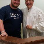 [FOTO] Un tânăr american s-a botezat la Lugoj