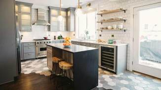 Arto Tres Grises Hex Kitchen