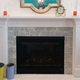 Pratt and Larson Tile Scraffito Fireplace