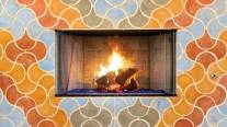 cochella house fireplace