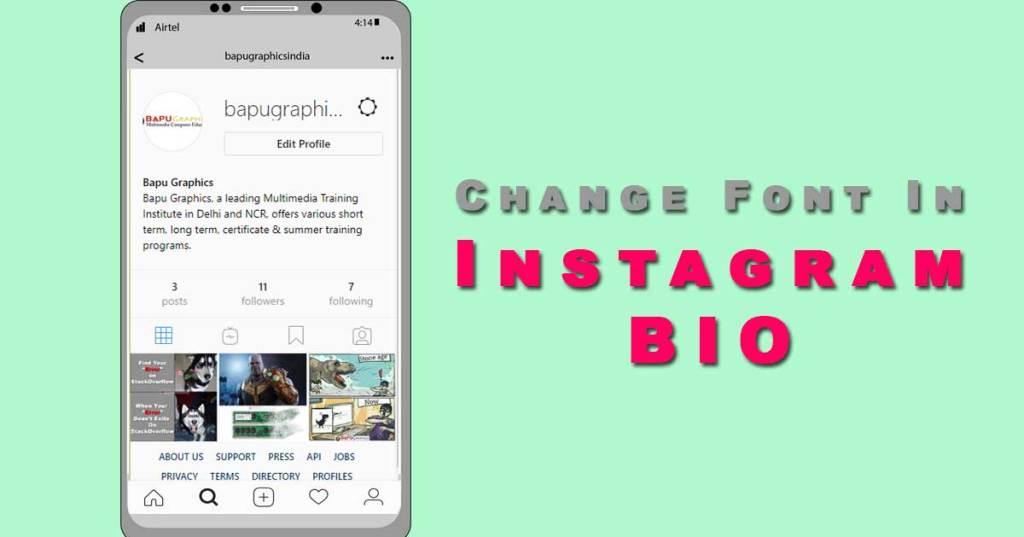 How to Change Font in Instagram Bio - Bapu Graphics
