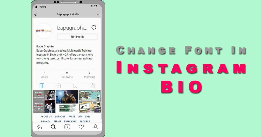 Change Font in Instagram