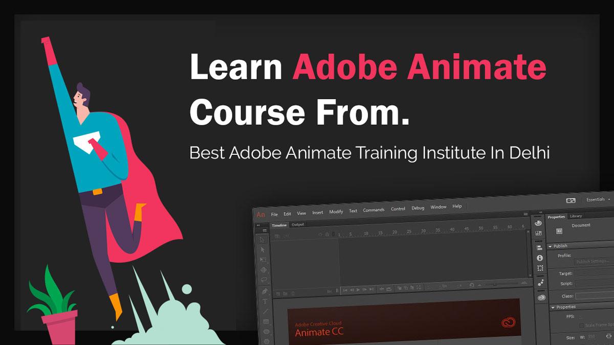 Best Adobe Animate Training Institute, Learn Adobe Animate Course