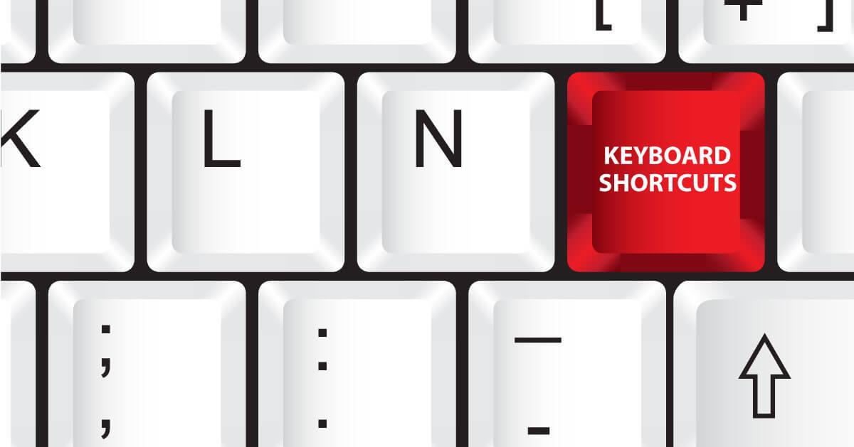 keyboard shortcuts for designer