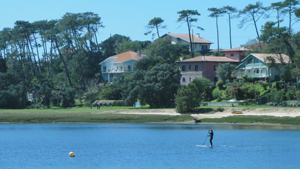 Stand up paddle sur le lac de Hossegor
