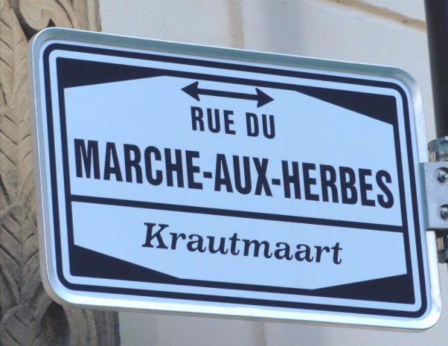 Pancarte de rue à Luxembourg Ville
