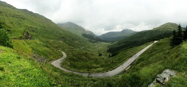 Vue panoramique sur le col entre le Beinn an Lochain et le Beinn Ime