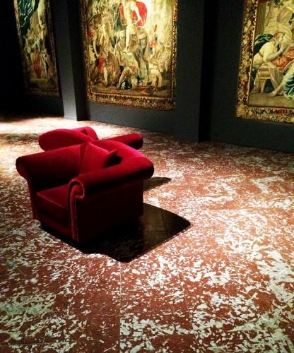 Musée des Tissus de Lyon - La salle des tapisseries où l'on peut admirer quelques chefs d'oeuvre du XVIIème siècle