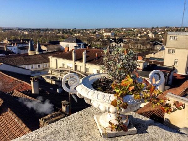 Panorama sur la ville de Cognac depuis la tour de l'hôtel de Javrezac
