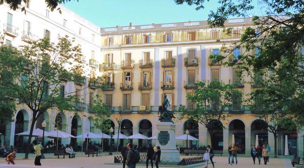 La Plaza Independencia à Gérone
