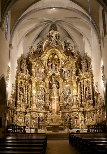 L'autel baroque de l'église Santa Maria à Cadaquès
