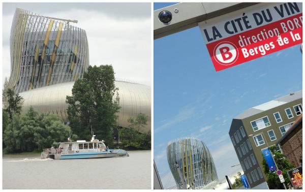 Bateau BatCub et arrêt de tramway pour la Cité du Vin
