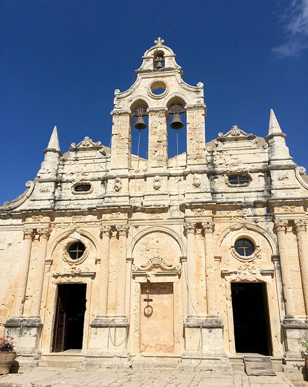 La façade Renaissance de l'église du Monastère d'Arkadi