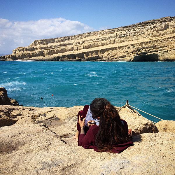 """Matala, """"village de hippies"""" sur la côte sud de Crète"""