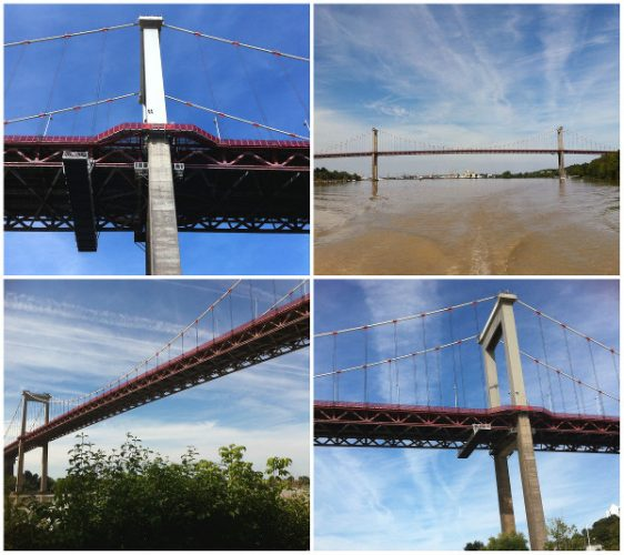 Montage photo du Pont d'Aquitaine pour observer Bordeaux en version panoramique