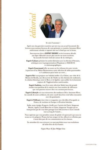 Edito magazine Esprit Berry 1
