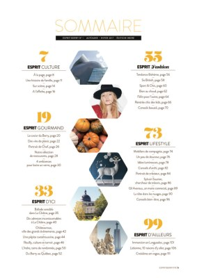 sommaire du magazine Esprit Berry n°1