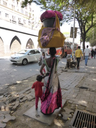 scène de vie dans la rue en Inde