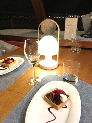 Dessert servi à bord du Sicambre