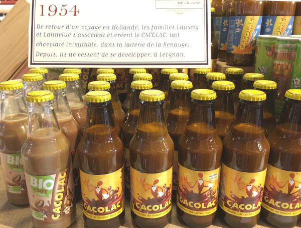 Bouteilles de Cacolac dans l'épicerie-musée l'Échoppe de la Lune