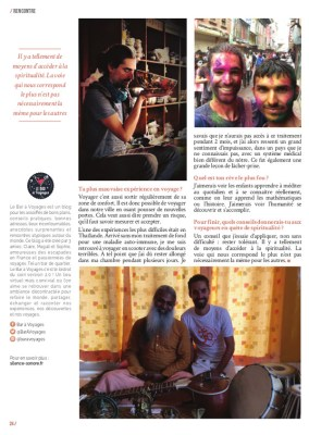 article du magazine MaVilleAMoi n°42 sur les bols chantants tibétains