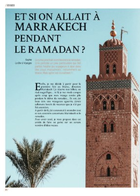 Article Marrakech dans le magazine MaVilleAMoi n°46