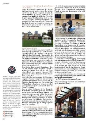 Article Luxembourg Ville page 3 - Magazine MaVilleAMoi n°47 - blog Bar à Voyages