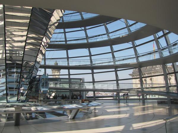 vue sur le quartier parlementaire depuis le dôme du Reichstag