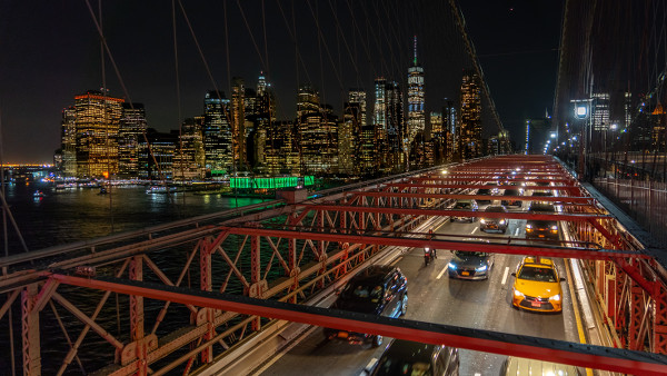 embouteillages sur un pont à New York