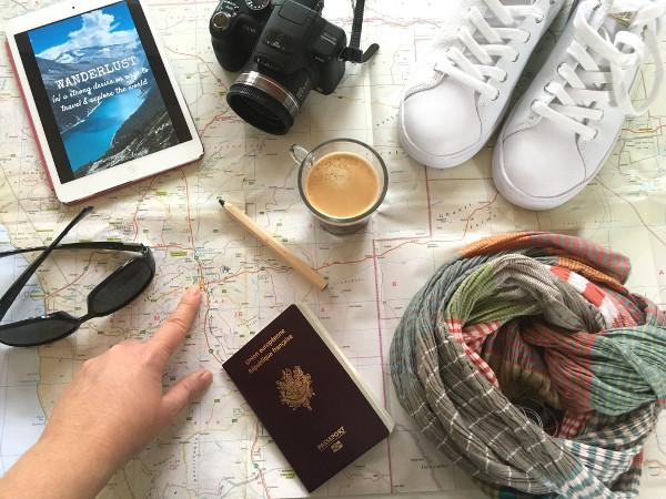préparation de l'itinéraire de voyage