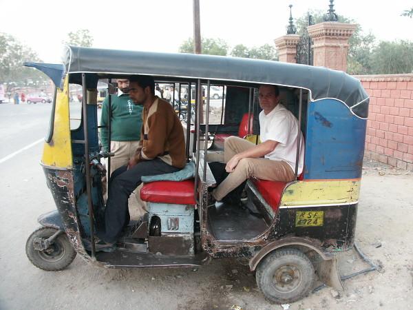 tuk tuk en Inde