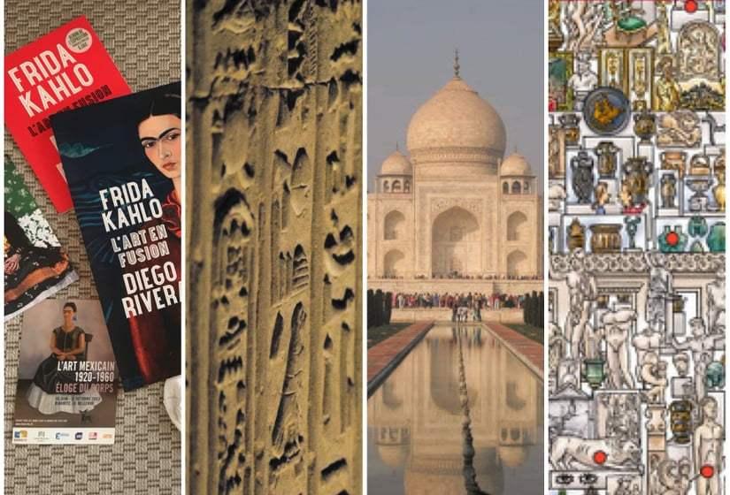 visites virtuelles : Frida Kahlo, antiquités egytiennes, le Taj Mahal et le MET