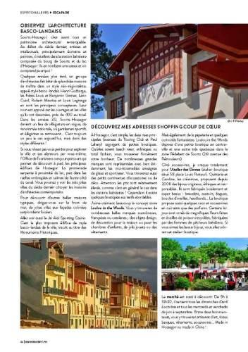 page 3 de l'article sur Hossegor paru dans le magazine Esprit Berry n°9
