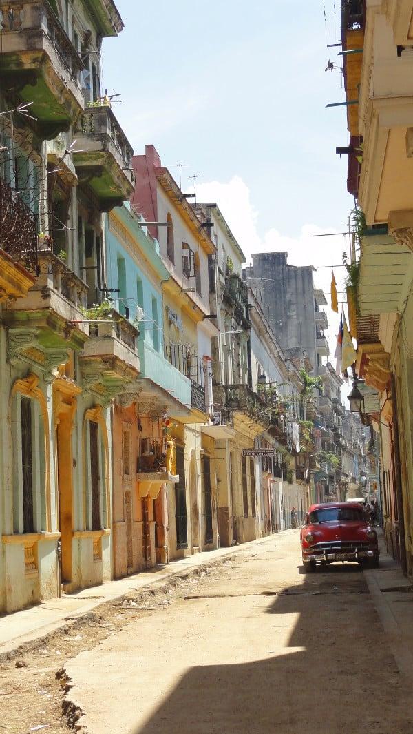 rue poussiéreuse de La Havane