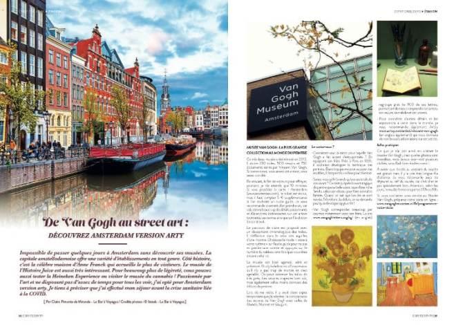 pages 1 et 2 de l'article Amsterdam arty paru dans le magazine Esprit Berry n°11