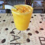 Un drink vegetariano dai sapori tropicali