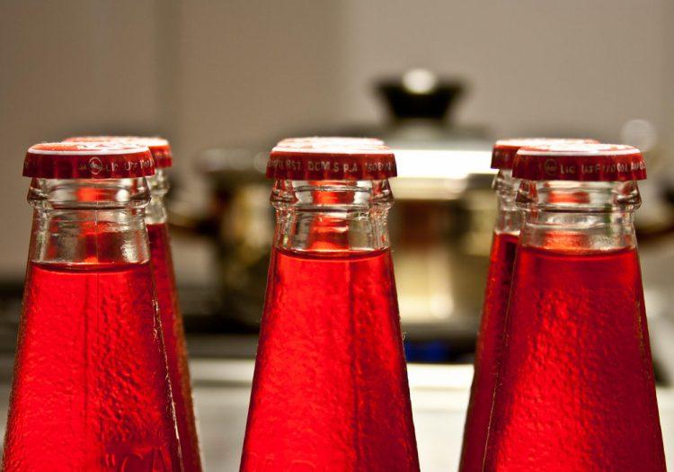 bottiglie in vetro per bibite