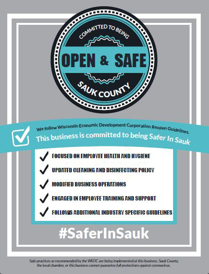 Safer In Sauk Poster